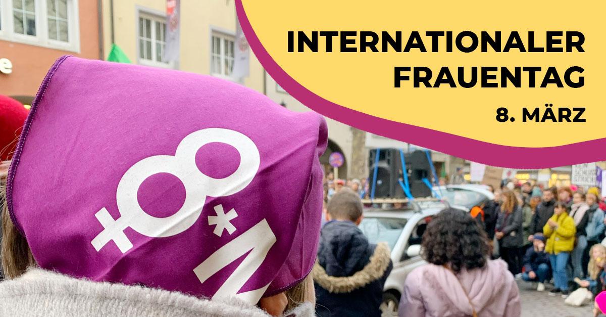 Aktion zum Internationalen Frauentag